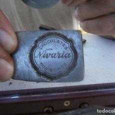 Antigüedades: ¡ CHOCOLATES,NIVARIA,BOMBONES¡¡¡¡MOLDE DE IMPRENTA¡PUBLICITARIO,AÑOS 30 40¡UNICO EN TC¡. Lote 136177286