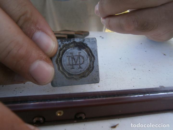 ¡¡MOLDE DE IMPRENTA¡PUBLICITARIO,AÑOS 30 40¡UNICO EN TC¡ (Antigüedades - Técnicas - Herramientas Profesionales - Imprenta)