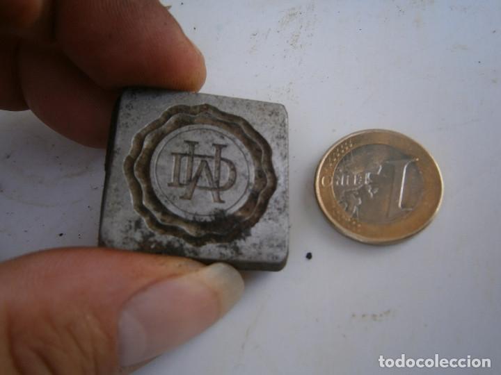 Antigüedades: ¡¡MOLDE DE IMPRENTA¡PUBLICITARIO,AÑOS 30 40¡UNICO EN TC¡ - Foto 2 - 136178758