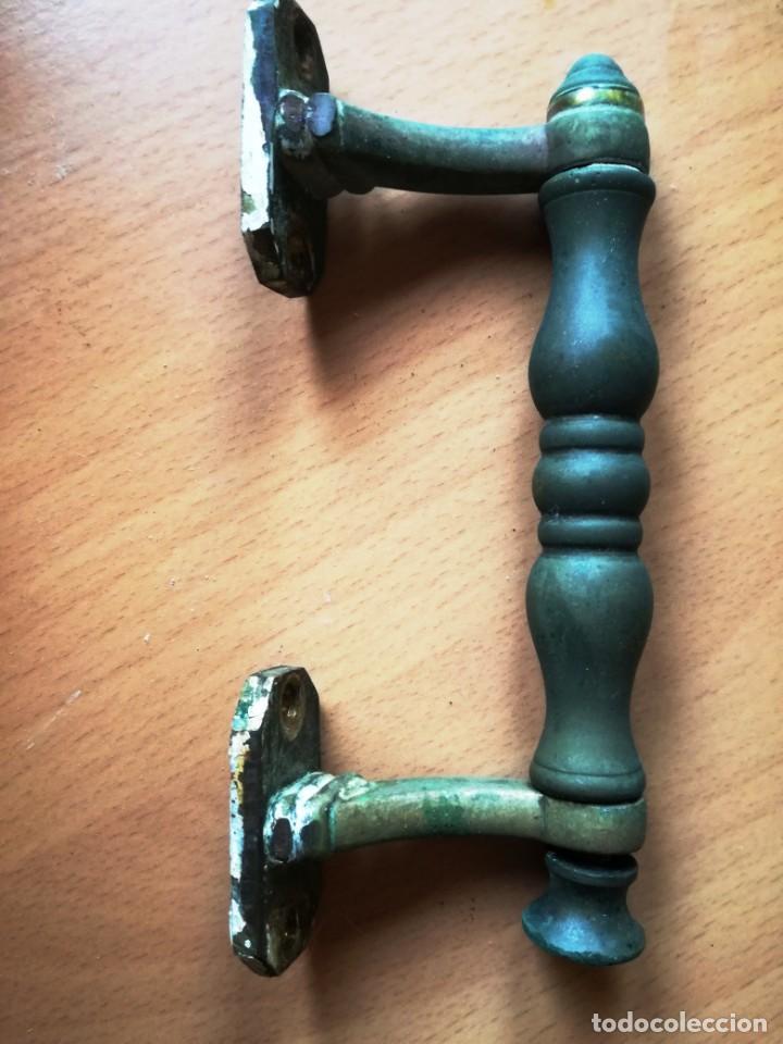 TIRADOR EN BRONCE. (Antigüedades - Técnicas - Cerrajería y Forja - Tiradores Antiguos)
