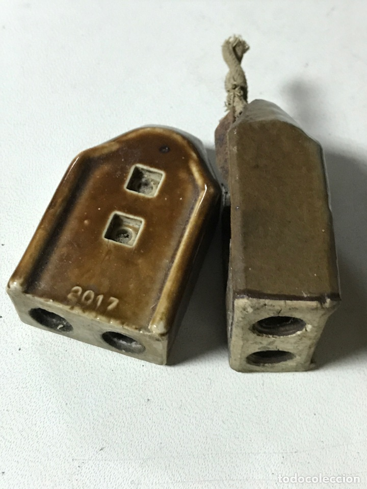 Antigüedades: MATERIAL ELECTRICO DE PORCELANA - Foto 3 - 136214353