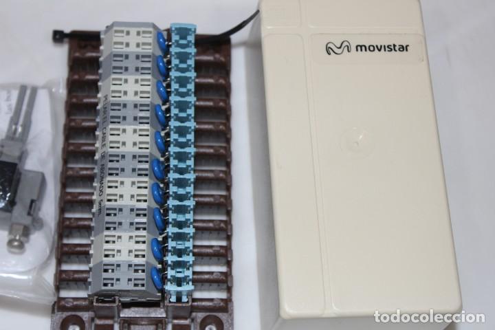 Antigüedades: ANTIGUA CAJA PARA 10 CONEXIONES TELEFONICAS PTR MULTIPLE 10P MURAL MOVISTAR - Foto 3 - 199254538