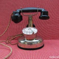 Teléfonos: ANTIGUO TELEFONO FRANCES DE MESA AÑO: 1931, MODELO PTT 24. (MODELO CROMADO Y CON DISCO).. Lote 136278202