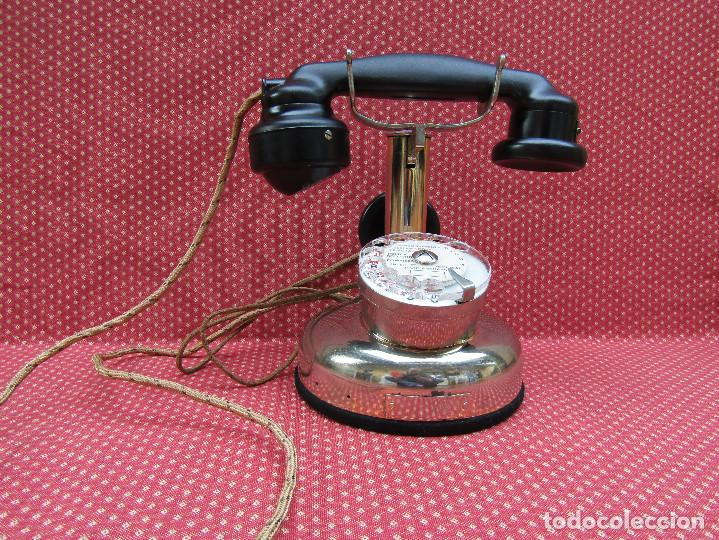 Teléfonos: ANTIGUO TELEFONO FRANCES DE MESA AÑO: 1931, MODELO PTT 24. (Modelo Cromado y con Disco). - Foto 2 - 136278202