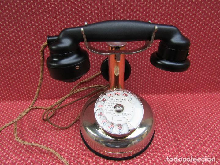 Teléfonos: ANTIGUO TELEFONO FRANCES DE MESA AÑO: 1931, MODELO PTT 24. (Modelo Cromado y con Disco). - Foto 3 - 136278202