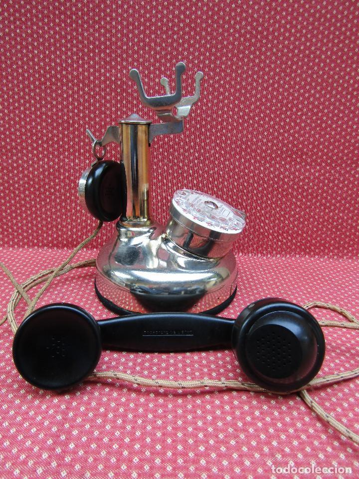 Teléfonos: ANTIGUO TELEFONO FRANCES DE MESA AÑO: 1931, MODELO PTT 24. (Modelo Cromado y con Disco). - Foto 4 - 136278202