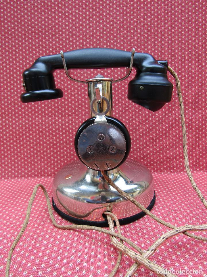 Teléfonos: ANTIGUO TELEFONO FRANCES DE MESA AÑO: 1931, MODELO PTT 24. (Modelo Cromado y con Disco). - Foto 5 - 136278202