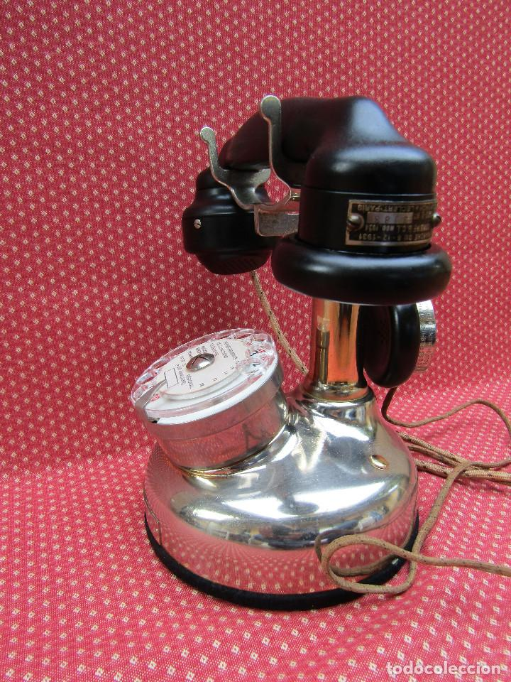 Teléfonos: ANTIGUO TELEFONO FRANCES DE MESA AÑO: 1931, MODELO PTT 24. (Modelo Cromado y con Disco). - Foto 6 - 136278202