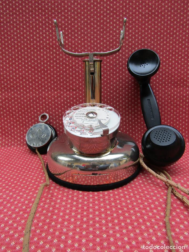 Teléfonos: ANTIGUO TELEFONO FRANCES DE MESA AÑO: 1931, MODELO PTT 24. (Modelo Cromado y con Disco). - Foto 15 - 136278202
