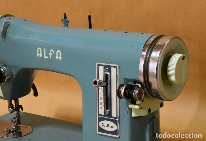 MÁQUINA DE COSER ALFA DE LUXE (Antigüedades - Técnicas - Máquinas de Coser Antiguas - Alfa)