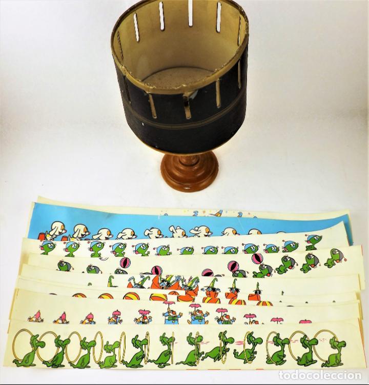 Antigüedades: Zootropo o Daédalum. Años 50+ Tiras animación - Foto 5 - 136298626