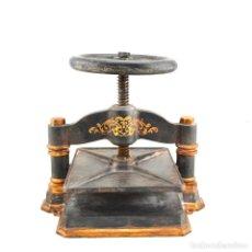 Antigüedades: PRENSA DE LIBRO SIGLO 19. Lote 148244477