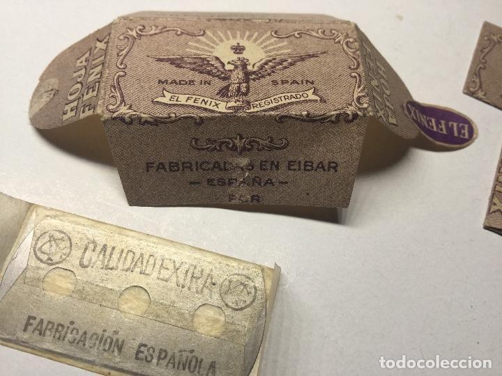 ANTIGUA CUCHILLA HOJA DE AFEITAR EL FENIX MADE IN SPAIN HOJA FENIX NUEVA SIN ABRIR (Antigüedades - Técnicas - Barbería - Hojas de Afeitar Antiguas)
