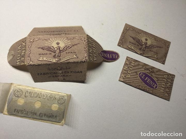 Antigüedades: antigua cuchilla hoja de afeitar el fenix made in spain hoja fenix nueva sin abrir - Foto 3 - 136314862