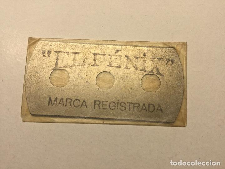Antigüedades: antigua cuchilla hoja de afeitar el fenix made in spain hoja fenix nueva sin abrir - Foto 4 - 136314862