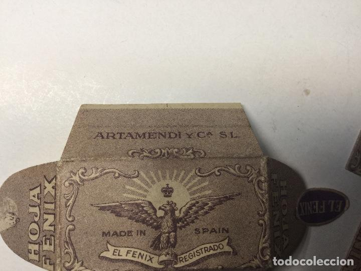 Antigüedades: antigua cuchilla hoja de afeitar el fenix made in spain hoja fenix nueva sin abrir - Foto 7 - 136314862
