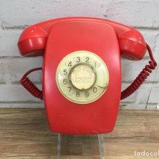 Phones - Teléfono de pared Heraldo rojo pátina restaurada serial S-40008 adaptado para funcionamiento - 136325821