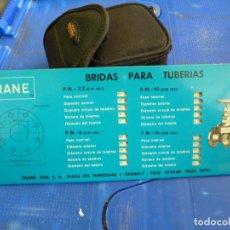 Antigüedades: BRIDAS PARA TUBERIAS CRANE. Lote 136350590