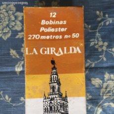 Antigüedades: CAJA COMPLETA DÉ BOBINAS LA GIRALDA. Lote 136359694