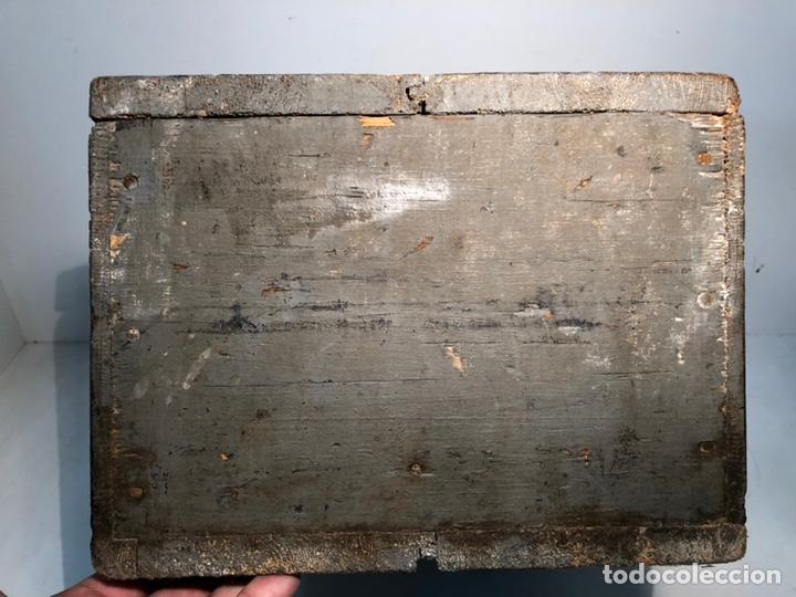 Antigüedades: CAJA DE HERRAMIENTAS DE MADERA ANTIGUA. - Foto 5 - 136377366