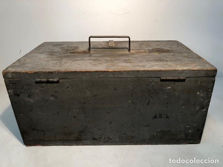 Antigüedades: CAJA DE HERRAMIENTAS DE MADERA ANTIGUA. - Foto 6 - 136377366