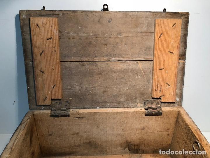 Antigüedades: CAJA DE HERRAMIENTAS DE MADERA ANTIGUA. - Foto 8 - 136377366