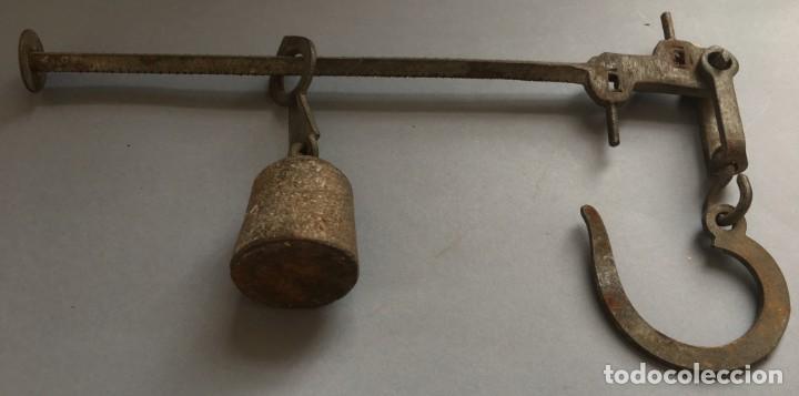 Antigüedades: MAGNIFICA ROMANA DE HIERRO, CON CAPACIDAD DE 2 A 7 KILOS - Foto 6 - 136564054