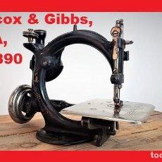Antigüedades: MÁQUINA DE COSER - WILLCOX & GIBBS, U.S.A, CA.1880 - HIERRO (FUNDIDO/FORJADO). Lote 136650870