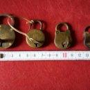 Antigüedades: IMPECABLE Y ANTIGUO LOTE 4 CANDADOS PEQUEÑOS MUY BIEN CONSERVADOS.. Lote 136821353