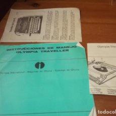 Antigüedades: INSTRUCCIONES DE MANEJO OLYMPIA TRAVELLER. Lote 136881594