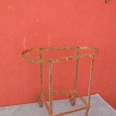 Antigüedades: ANTIGUO SOPORTE DE HIERRO PARA BACINILLA.. Lote 136895182