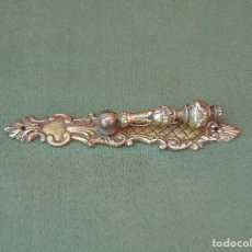 Antigüedades: ANTIGUO TIRADOR DE BRONCE ALARGADO.. Lote 136914042
