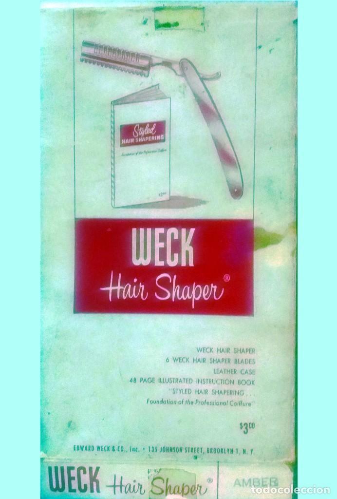 Antigüedades: WECK HAIR SHAPER-SET CON NAVAJA,HOJAS PEINE + LIBRO,PARA HACER PEINADOS ESTILO. ANTIGUOS.NUEVO. USA. - Foto 4 - 137018002