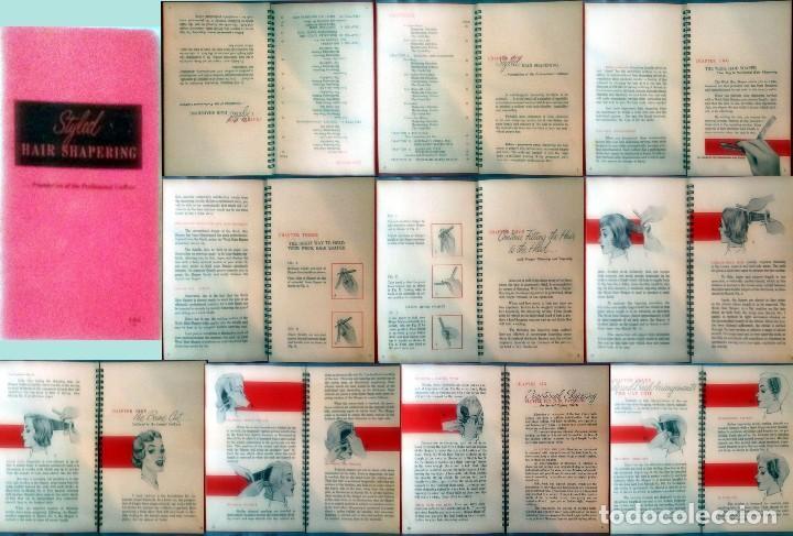 Antigüedades: WECK HAIR SHAPER-SET CON NAVAJA,HOJAS PEINE + LIBRO,PARA HACER PEINADOS ESTILO. ANTIGUOS.NUEVO. USA. - Foto 5 - 137018002