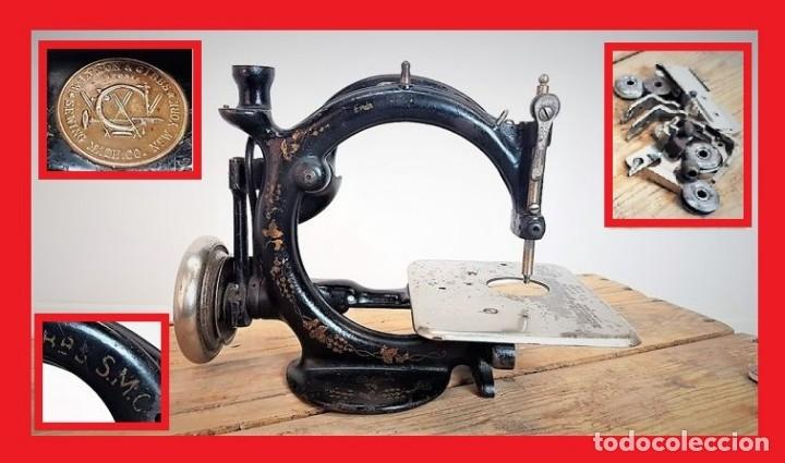 MÁQUINA DE COSER - WILLCOX & GIBBS, U.S.A, CA.1880 - HIERRO (FUNDIDO/FORJADO) (Antiquitäten - Technische - Antike Nähmaschinen - Andere Nähmaschinen)