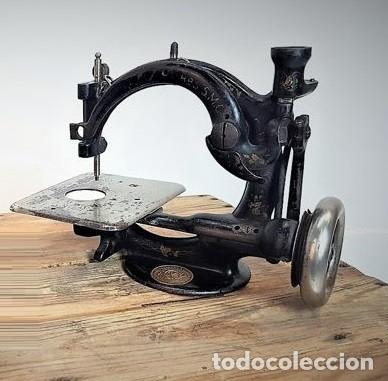 Antiquitäten: Máquina de coser - Willcox & Gibbs, U.S.A, ca.1880 - Hierro (fundido/forjado) - Foto 5 - 116583651