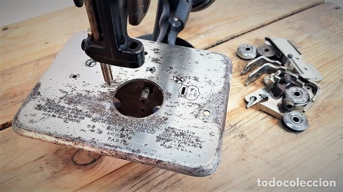Antiquitäten: Máquina de coser - Willcox & Gibbs, U.S.A, ca.1880 - Hierro (fundido/forjado) - Foto 18 - 116583651