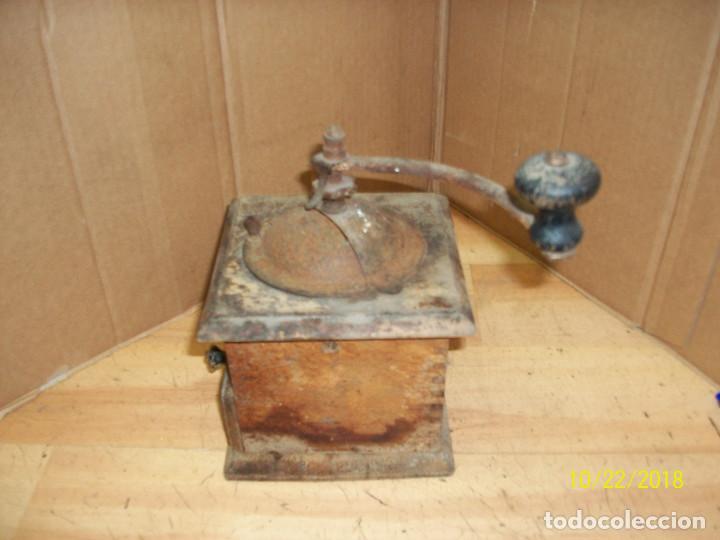 Antigüedades: ANTIGUO MOLINILLO ELMA-DE MADERA-COMPLETO - Foto 3 - 137344534