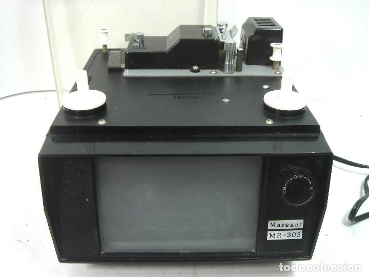 Antigüedades: ANTIGUO VISOR-SUPER 8MM MAREXAR MR-303 - ELECTRICO 220V -JAPAN AÑOS 70- PROYECTOR EDITOR 8 MM MR303 - Foto 2 - 137348750