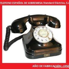 Teléfonos: TELÉFONO ESPAÑOL DE SOBREMESA AÑOS 50 STANDARD ELÉCTRICA, S.A. - MADRID (VER VÍDEO ). Lote 137904582