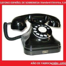 Teléfonos: TELÉFONO ESPAÑOL DE SOBREMESA AÑOS 50 STANDARD ELÉCTRICA, S.A. - MADRID. Lote 137352174