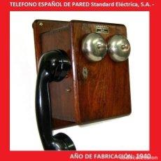 Teléfonos: TELÉFONO ANTIGUO EN MADERA CON MAGNETO - STANDARD ELECTRICA (VER VÍDEO ). Lote 137358378