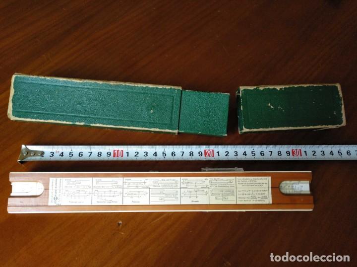 Antigüedades: REGLA DE CALCULO A.W. FABER CASTELL 1/54 DARMSTADT CON SU CAJA CALCULADORA SLIDE RULE RECHENSCHIEBER - Foto 4 - 137393518