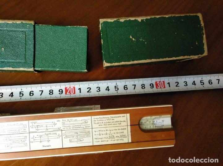 Antigüedades: REGLA DE CALCULO A.W. FABER CASTELL 1/54 DARMSTADT CON SU CAJA CALCULADORA SLIDE RULE RECHENSCHIEBER - Foto 6 - 137393518