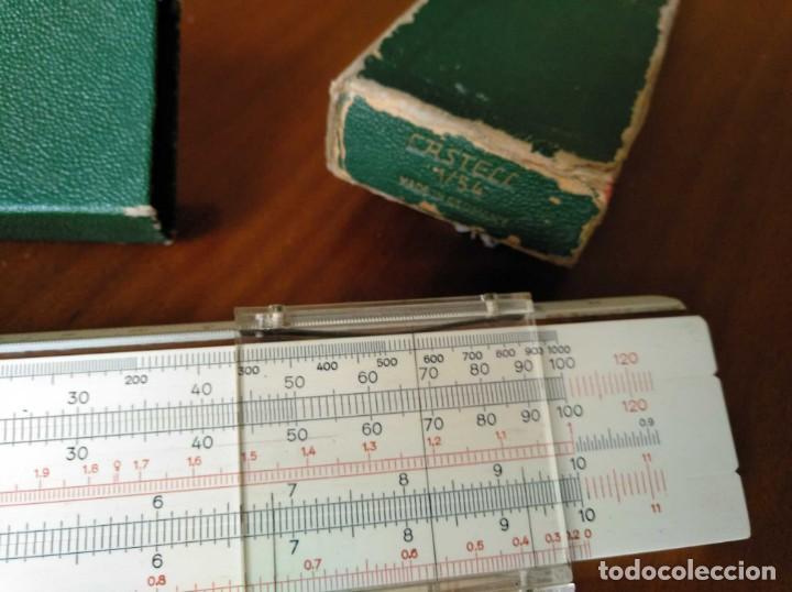 Antigüedades: REGLA DE CALCULO A.W. FABER CASTELL 1/54 DARMSTADT CON SU CAJA CALCULADORA SLIDE RULE RECHENSCHIEBER - Foto 7 - 137393518