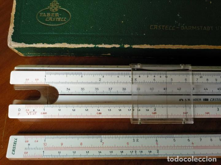 Antigüedades: REGLA DE CALCULO A.W. FABER CASTELL 1/54 DARMSTADT CON SU CAJA CALCULADORA SLIDE RULE RECHENSCHIEBER - Foto 9 - 137393518