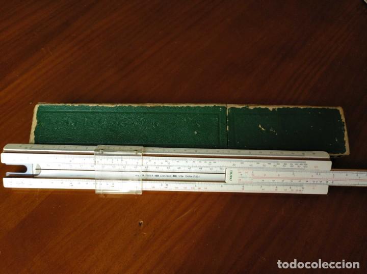 Antigüedades: REGLA DE CALCULO A.W. FABER CASTELL 1/54 DARMSTADT CON SU CAJA CALCULADORA SLIDE RULE RECHENSCHIEBER - Foto 17 - 137393518