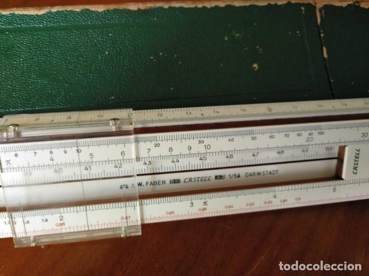 Antigüedades: REGLA DE CALCULO A.W. FABER CASTELL 1/54 DARMSTADT CON SU CAJA CALCULADORA SLIDE RULE RECHENSCHIEBER - Foto 18 - 137393518