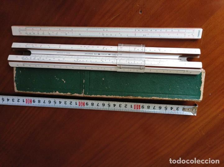 Antigüedades: REGLA DE CALCULO A.W. FABER CASTELL 1/54 DARMSTADT CON SU CAJA CALCULADORA SLIDE RULE RECHENSCHIEBER - Foto 19 - 137393518