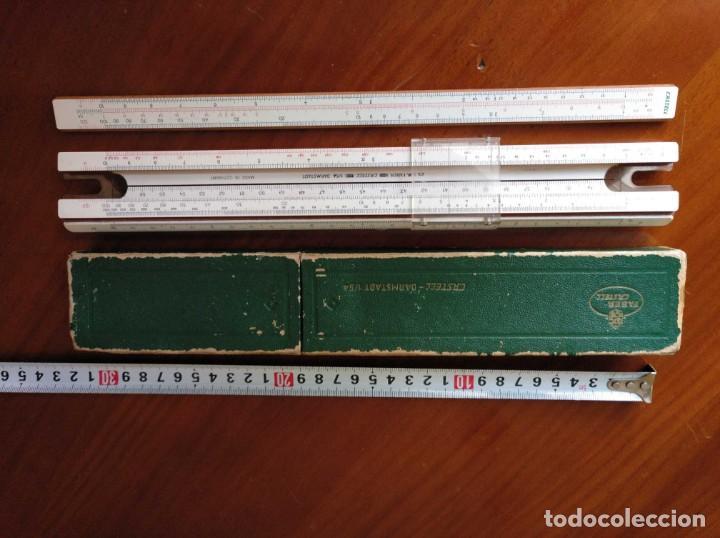 Antigüedades: REGLA DE CALCULO A.W. FABER CASTELL 1/54 DARMSTADT CON SU CAJA CALCULADORA SLIDE RULE RECHENSCHIEBER - Foto 20 - 137393518